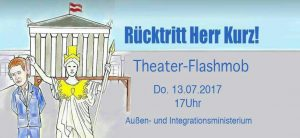 Flashmob #Kurzleaks @ Außen- und Integrationsministerium | Wien | Wien | Österreich